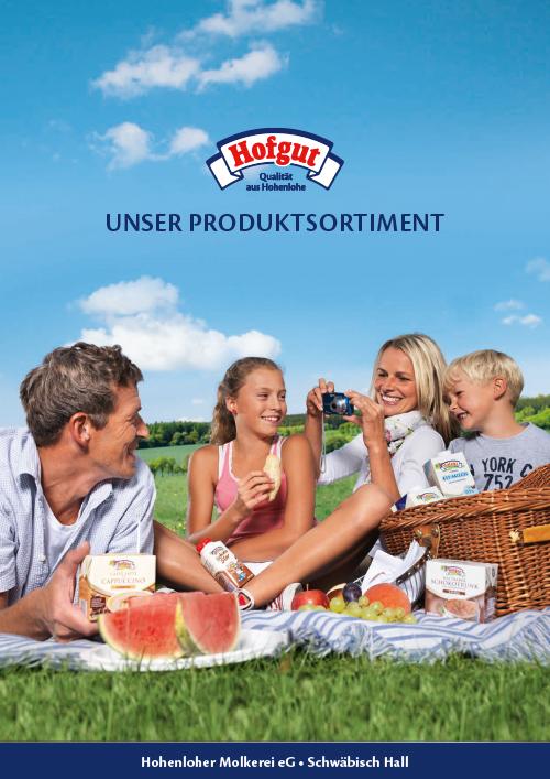Produktübersicht / Sortiment Molkerei Hofgut