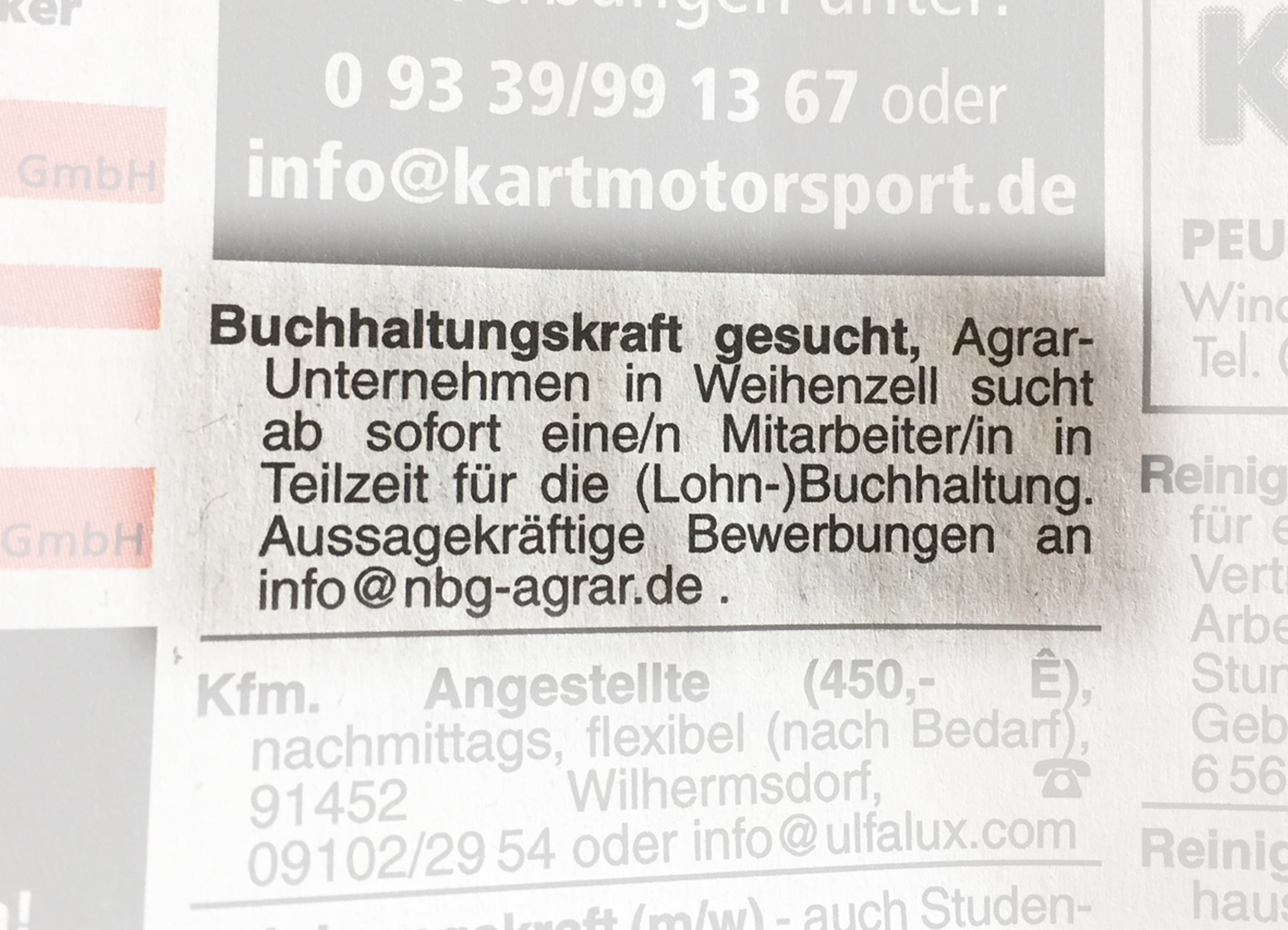 Stellenanzeige Berufspraktikum, Ferienjob, Fachpraktikum in der Landwirtschaft bei Armin Nürnberger in Möckenau, Jobs und Karriere
