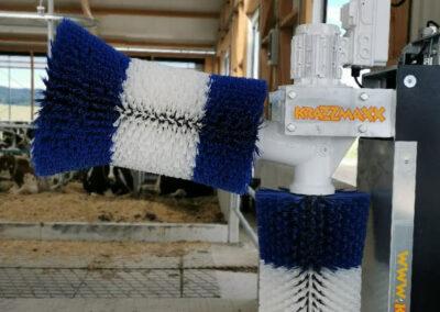 Massagebürsten für die Kühe, Wellness im Milochviehbetrieb